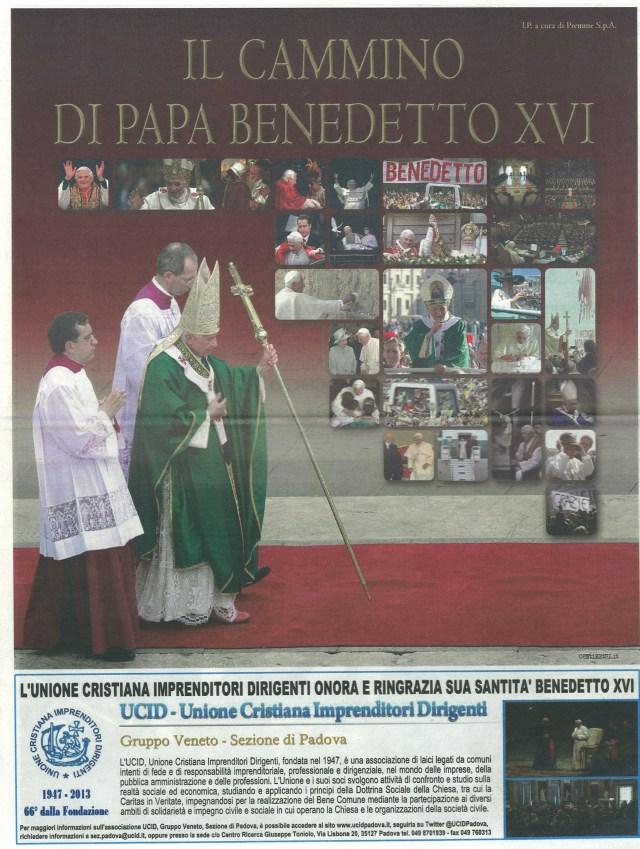 Giustificativo Saluto A Papa Benedetto XVI