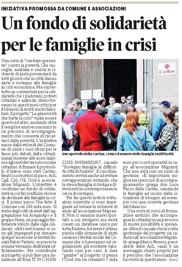 Mattino di Padova 17 maggio 2013
