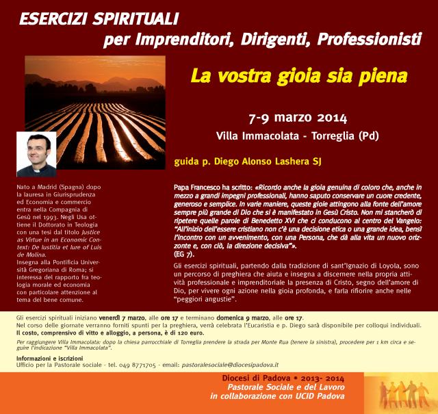 esercizi spirituali marzo 2014